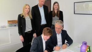 Partnerschaftsvertrag mit der Volksbank Haselünne unterzeichnet
